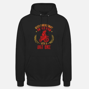 Old Never Underestimate An Old Man With A Dirt Bike Gi - Unisex Hoodie