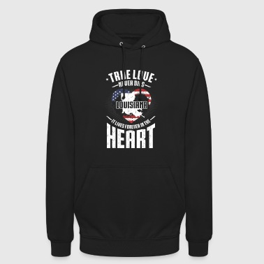 Louisiana True Love ne meurt jamais - Louisiana Heart America - Sweat-shirt à capuche unisexe