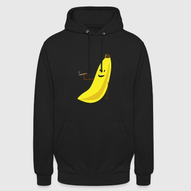 Smoking Banana Weed Joint Cannabis Gift Idea - Unisex Hoodie