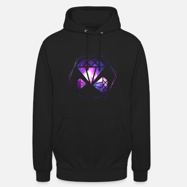 Diamond Diamond outer space universe gift idea gemstone - Unisex Hoodie