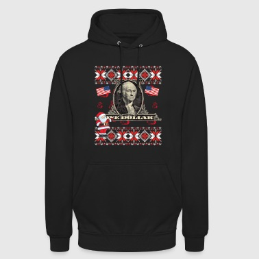 Dollar USA Sweater Amerika Washington Kerstmis - Hoodie unisex