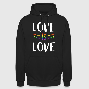 LOVE IS LOVE Kissen - Unisex Hoodie