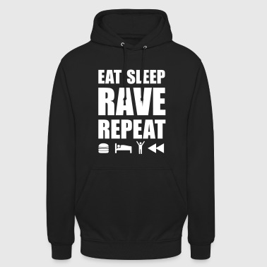 eat sleep rave repeat Icons Techno Festival Spruch - Unisex Hoodie