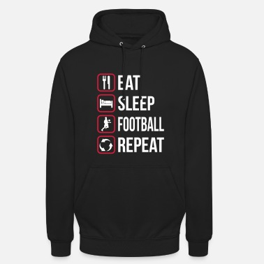 Play Eat Sleep Football Repeat - Unisex Hoodie