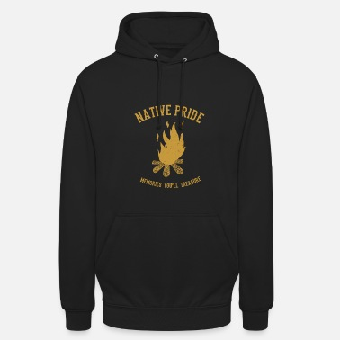 American Indian Campfire Native American Indians - Unisex Hoodie