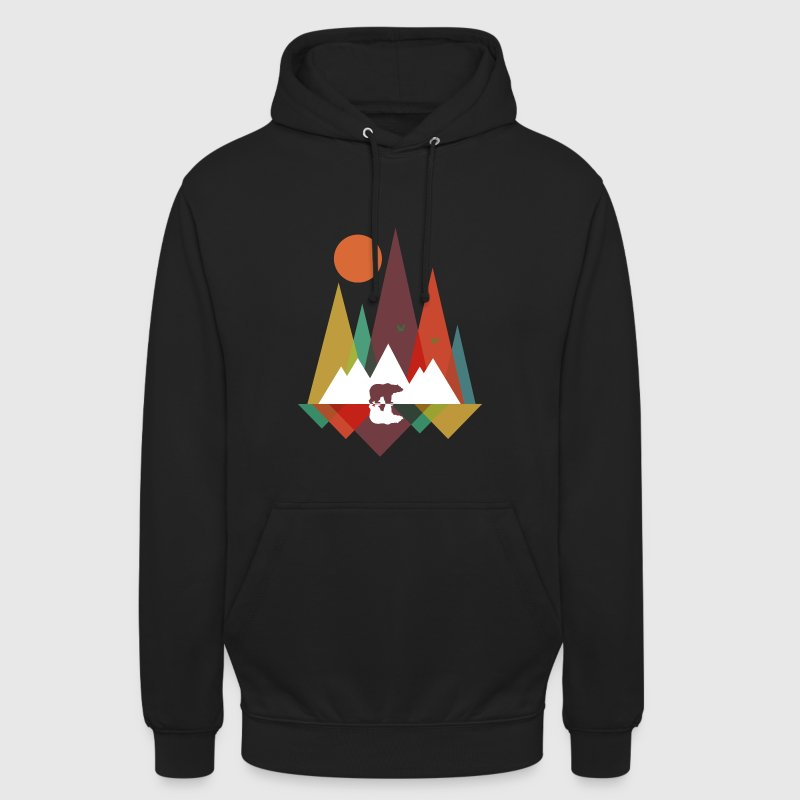 Bear in the mountains - Unisex Hoodie