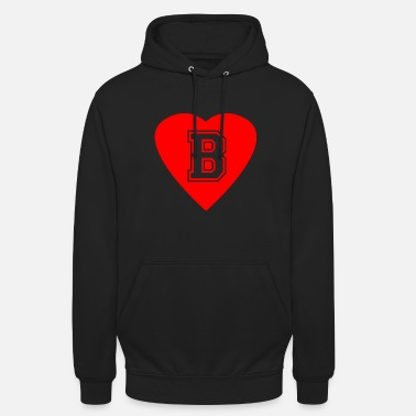 Heart Letter B Name Initials First name Gift - Unisex Hoodie