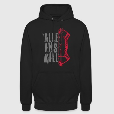 All in Kill Compound (Tir à l'arc par BOWTIQUE) - Sweat-shirt à capuche unisexe