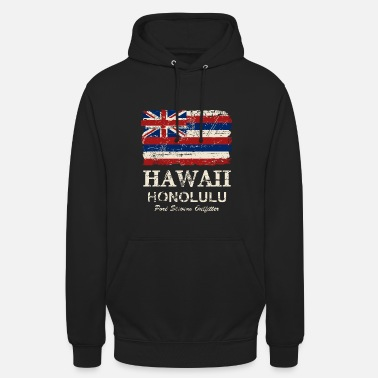 Hawaii Hawaii Flag - Honolulu - Vintage Look - Unisex Hoodie