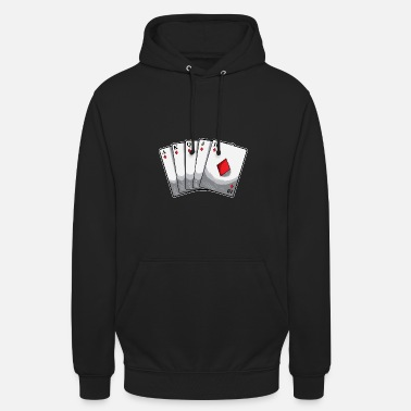 Royal Flush Cards Regalo di Poker Hand Hold'em - Felpa con cappuccio unisex