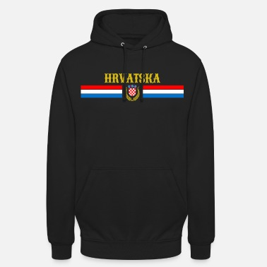 Hrvatska - Croatie - Armoiries - Grb - Sweat-shirt à capuche unisexe