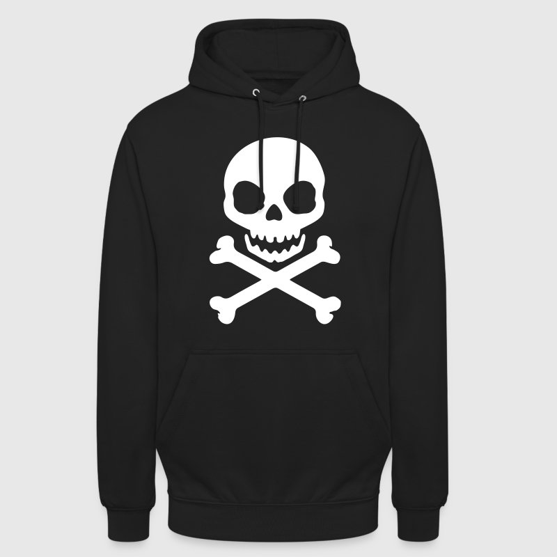 tête de mort pirate - Sweat-shirt à capuche unisexe