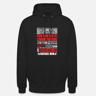 Up Baseball Mom Never Give Up Camicia - Hoodie unisex