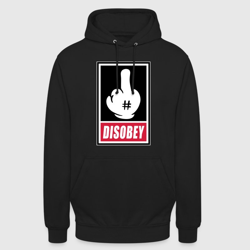 Fck Disobey vector 3 colors - Sweat-shirt à capuche unisexe