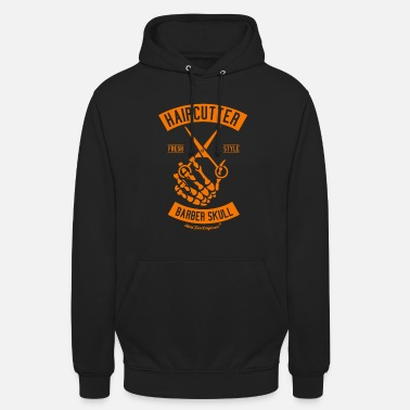 Haircutter HOLD FAST ORIGINALS Haircutter Barber Skull Orange - Unisex Hoodie