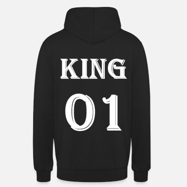 King Queen King 01 T-skjorte, King Queen Partner Shirt Black - Unisex-hettegenser