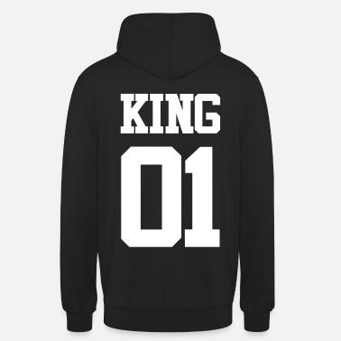 Partnerlook KING 01 - WEISS - Unisex Hoodie