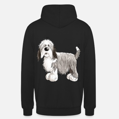 Bearded Collie Il Bearded Collie - Felpa con cappuccio unisex