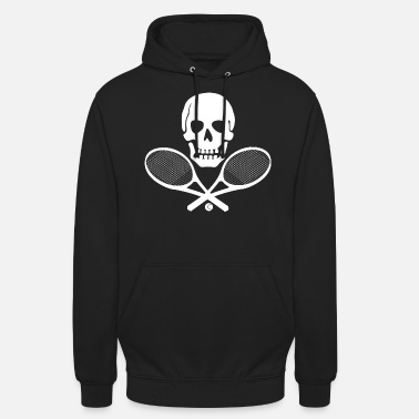 Pirate Tennis Pirat Rock Totenkopf Tennisshirt Skull - Unisex Hoodie