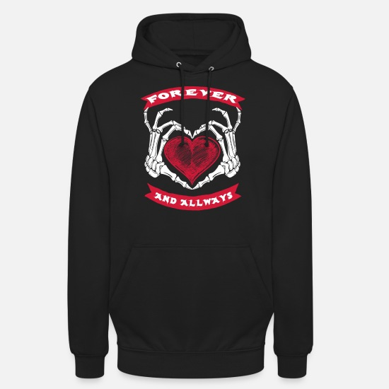 Birthday Hoodies & Sweatshirts - For Ever and Allways - Unisex Hoodie black