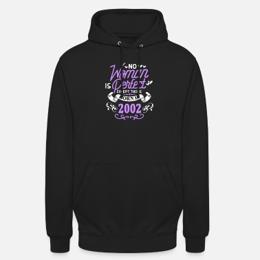 August No Woman Is Perfect Except Those Born In 2002 - Unisex Hoodie