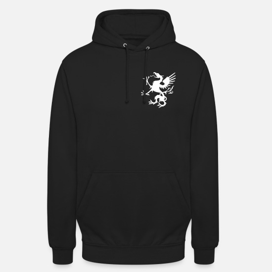 Larp Hoodies & Sweatshirts - white griffin - Unisex Hoodie black