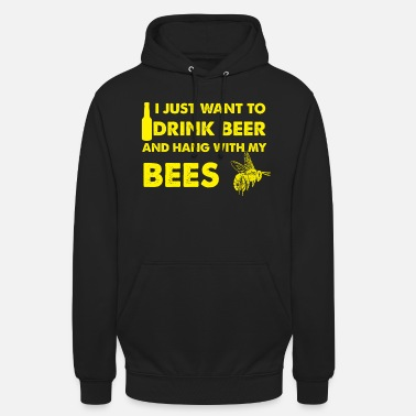 Bees & Beer Gift - Sweat à capuche unisexe