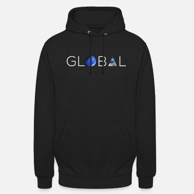Global GLOBAL BLANC - Sweat à capuche unisexe