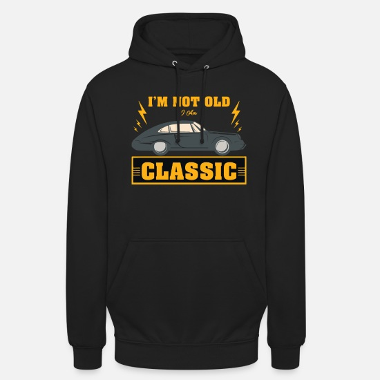 Automobile Hoodies & Sweatshirts - Oldtimer car - Unisex Hoodie black