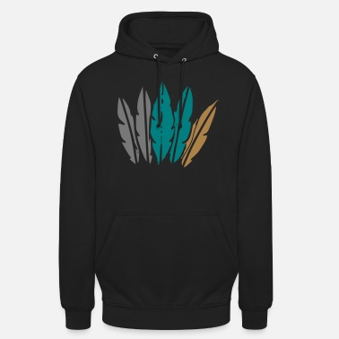 Jewelry feather jewelry - Unisex Hoodie