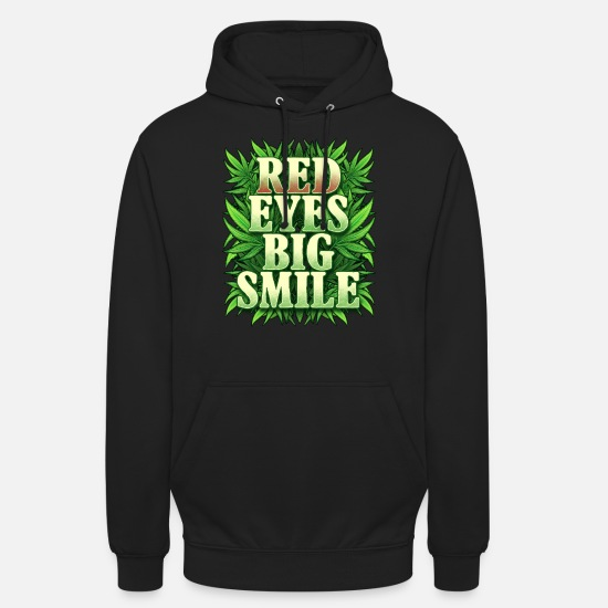 Birthday Hoodies & Sweatshirts - Red eye marijuana cannabis hemp gift - Unisex Hoodie black