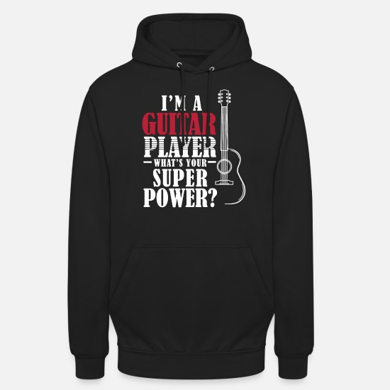 Guitar Player Sweat-shirts - Je suis un guitariste - Sweat à capuche unisexe noir