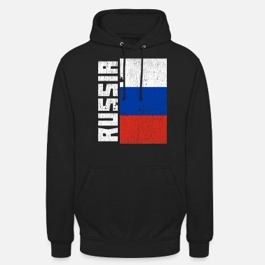 Østblokken Russland Flag Country Coat of Arms Distressed Gift - Unisex hettegenser