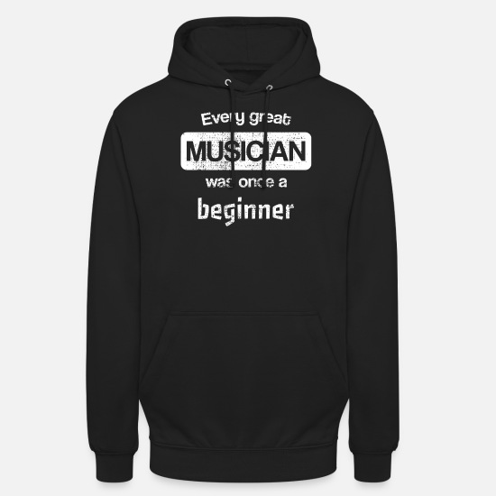 Lazy Hoodies & Sweatshirts - Music teacher music school beginner instrument - Unisex Hoodie black