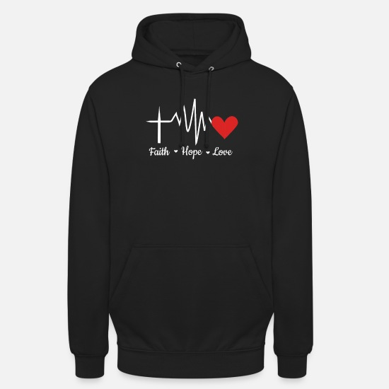 Bible Hoodies & Sweatshirts - cool faith hope love gift - Unisex Hoodie black