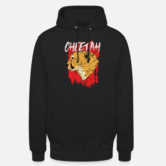 Fur Hoodies & Sweatshirts - Animal drawing | Wild Animal | leopard - Unisex Hoodie black