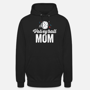 Beach Volleyball Volleyball Mom TShirt Team Player Mother Game Day - Unisex Hoodie