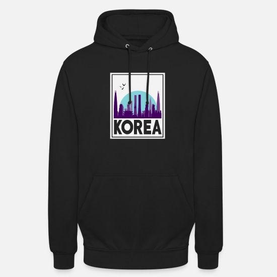 Birthday Hoodies & Sweatshirts - North Korea South Korea Asia Korea Flag - Unisex Hoodie black
