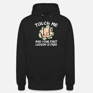 Taekwondo Fas me at lesson boxing boxer fist fight - Unisex Hoodie