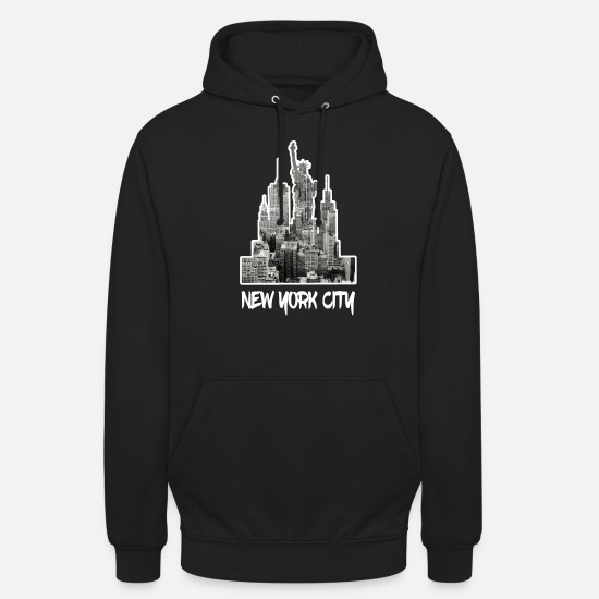 New York Hoodies & Sweatshirts - New York City NYC Manhattan America USA - Unisex Hoodie black