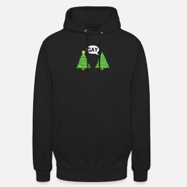 Xmas Gay Christmas Tree Funny Xmas Holiday Bisexual - Sudadera con capucha unisex