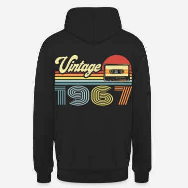 Production Year Vintage 1967 Cassette Mixtape - 53rd Birthday - Unisex Hoodie