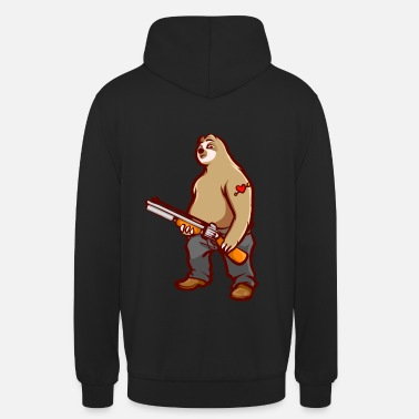 Hill Billy Lustiges Faultier Hill Billy Shotgun Geschenk - Unisex Hoodie