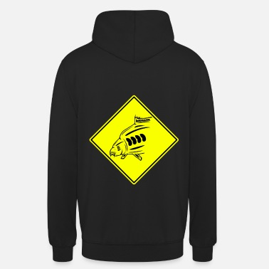 Carp Sign Fishing Funny Road Signs Carp - Unisex Hoodie
