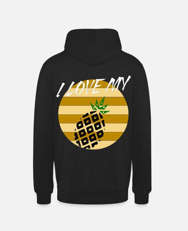Yummy Hoodies & Sweatshirts - I love my pineapple pineapple - Unisex Hoodie black