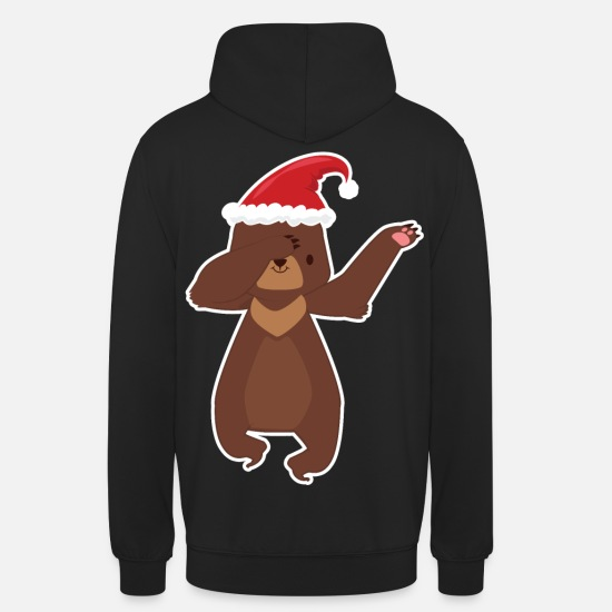 Christmas Hoodies & Sweatshirts - Ugly Christmas Bear Dabbing - Unisex Hoodie black