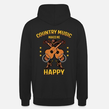 Country Country Music Makes Me Happy Shirt Geschenk - Unisex Hoodie