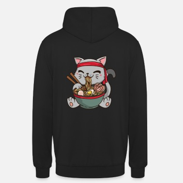 Ramen Japan Anime Manga Cat Noodle Food Cosplay - Unisex Hoodie