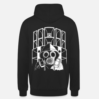Gas Tekno 23 Soundsystem gas mask - Unisex Hoodie