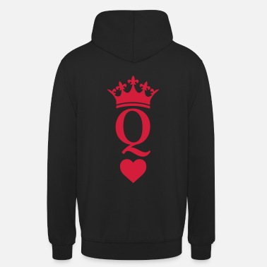 Queen Of Hearts QUEEN CROWN HEART - Unisex Hoodie